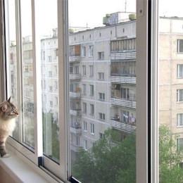 Раздвижная алюминиевая система балкона