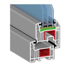 Балконный блок из оконного профиля Exprof Profecta