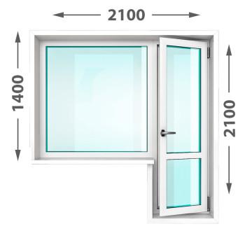 Балконный блок из оконного профиля Exprof Practica