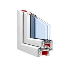 Двустворчатые пластиковые окна из оконного профиля KBE Expert