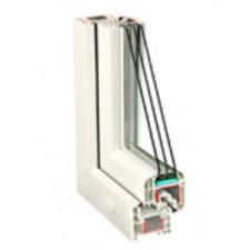 Двустворчатые пластиковые окна из оконного профиля REHAU Delight-Design
