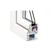 Двустворчатые пластиковые окна из оконного профиля REHAU Sib-Design
