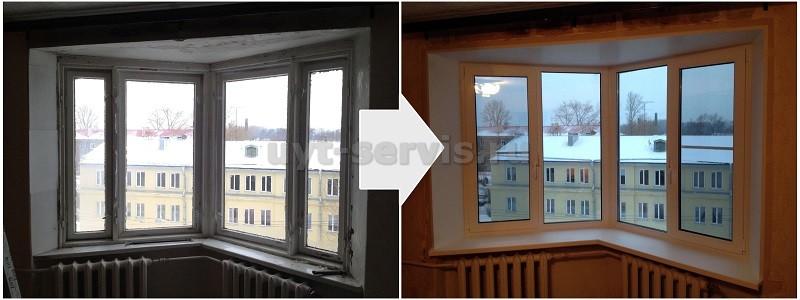 Окно угловое новом доме